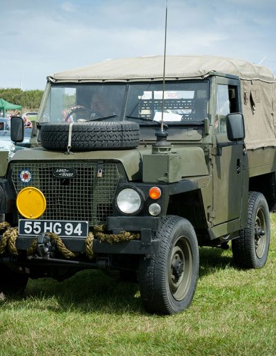 Vintage Army Land Rover